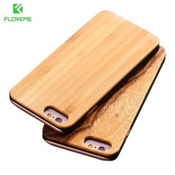 FLOVEME Real Bamboo Wood Case For iPhone 7 6 6S Plus Case For iPhone 6 6S Coque Phone Accessories For Samsung S8 Plus S7 S6 Edge