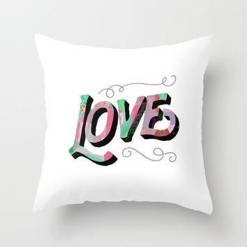 Faith Hope Love Series - Love Throw Pillow by Pocket Fuel