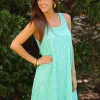 Bows And Lace Dress, Mint