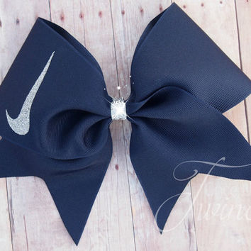 Cheer Bow Navy - cheer team bows - gifts for girls - nationals bow - Cheer competitions
