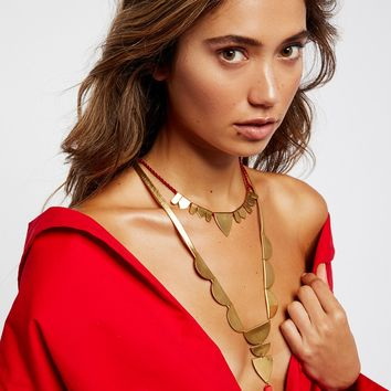 Free People Canyonland Brass Pendant