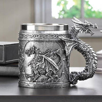 Mythical Medieval Serpent Dragon Celtic Symbols Decorative Mug