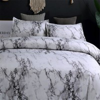 Marble Quilt/Duvet Cover Set King/Queen/Double Size Bedding