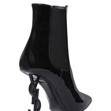 Patent Leather Ankle Boot by Saint Laurent