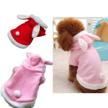 Warm Thickened Cat Costumes Rabbit Bunny costumes suit clothes windproof Pet Product Cute Bunny suit  For Cat Winter Shipping