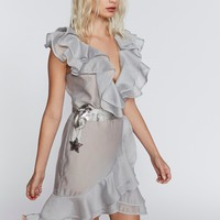 Free People Bowie Star Organza Mini Dress