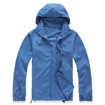 Summer Lovers Skin Clothing Men Women Breathable Hooded Long Sleeve Waterproof Quick Dry Outdoor Camping Windproof Hiking Jacket
