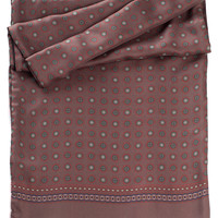 Chianti-Silk Wool Reversible Scarf-Chocolate