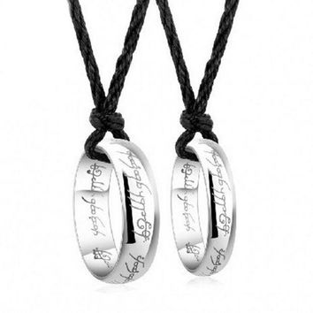 CREYUG3 selling pendant couple RING 925 sterling silver rings single ring on the ring of male and female allure = 1929996932