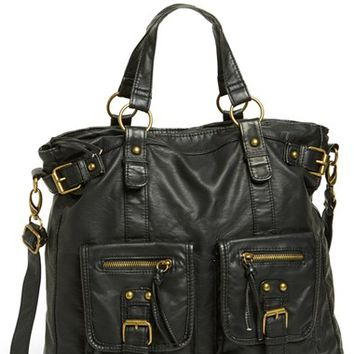 Junior Women's BP. Double Pocket Faux Leather Tote