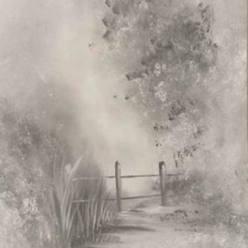 SCENIC MUSLIN PHOTO BACKDROP HAND PAINTED - LCMSS45537 - 10x20 - LAST CALL