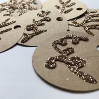 6 count glitter tags