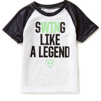 Under Armour Little Boys 2T-7 Short-Sleeve Swing Like A Legend Tee | Dillards