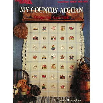 My Country Afghan - Counted Cross Stitch Leaflet - Leisure Arts