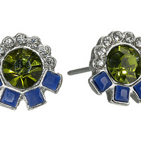 Sam Edelman Girl's Club Set Stone Stud Earrings Olivine/Gold - Zappos.com Free Shipping BOTH Ways