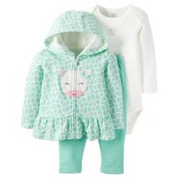 Just One You™Made by Carter's® Baby Girls' 3 Piece Hooded Giraffe Set - Mint