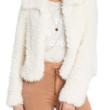Billabong Fur Keeps Faux Fur Crop Jacket | Nordstrom