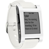 Pebble - Smart Watch for Select iOS and Android Devices - White