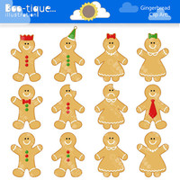 Gingerbread Man Digital Clipart for Instant Download. Gingerbread Clip Art. Christmas Digital Clip Art. Xmas Clipart. Gingerbread Clipartrt.