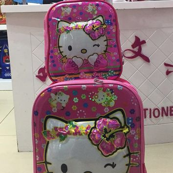 e525486791 Kids Rolling Bag 3D EVA girl s Boy s trolley Bags For School Cartoon  Children s Travel luggage Wheeled