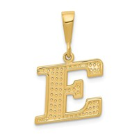 Solid 14k Gold Initial E Charm