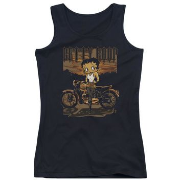 Betty Boop - Rebel Rider Juniors Tank Top