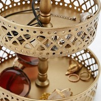 Three Tier Jewellery Stand in Gold - Urban Outfitters