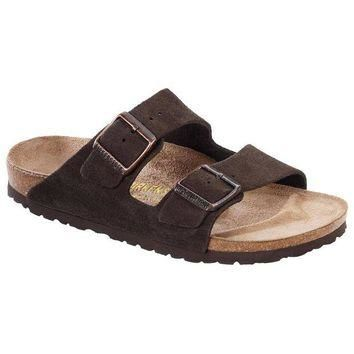 VON7Y1 Beauty Ticks Birkenstock Classic Arizona Suede Leather Regular Fit Mocca