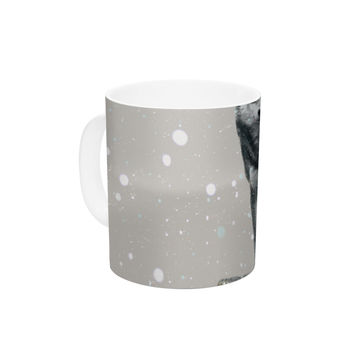 "Monika Strigel ""Wolf"" Ceramic Coffee Mug"