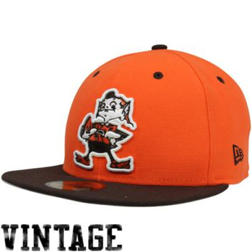 New Era Cleveland Browns Two-Tone 59FIFTY Fitted Hat - Orange/Brown