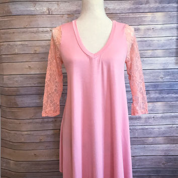 Perfect Peach Date Night Dress