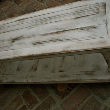 Wood Coffee Table - Wooden - Shabby Furniture - French Country - 20 Inch Wide Size