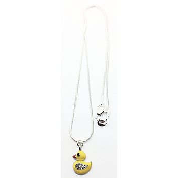 Yellow Duck Charm Necklace