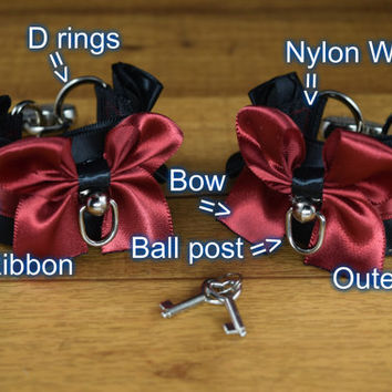 Create Your Own Pair (2) of Pleated Pet Play and BDSM Cuffs