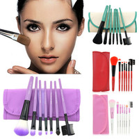 7Pcs/ Set Of Hot Colorful Professional Make-up Brush Set