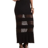 Crochet Cut-Out Maxi Skirt by Charlotte Russe
