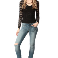 Knee Cut Out Skinny Jeans