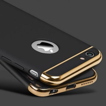 New for iphone 6s 6 Plus Case Armor Slim Thin 3in1 Phone Cases for iphone 7 Plus 5 5S SE Luxury Cover Shockproof Accessories