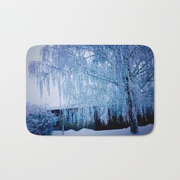 A most beautiful  tree Bath Mat by Jessica Ivy