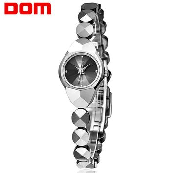 Woman DOM Mini Watch Tungsten Steel Quartz Luxury Top Brand Waterproof Bracelet Stylish watches for women wrist Reloj W-735-1M