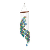 Benzara Attractive Capize Round Blue Wind Chime