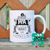 5 Seconds of Summer Amnesia Coffee Mug, Ceramic Mug, Unique Coffee Mug Gift Coffee