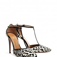 Tango T-Strap Leopard Pointed Court Shoes by Aquazzura