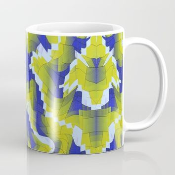 Blue And Green splinter Mug by Jeanette Rietz
