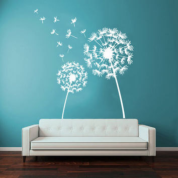 Dandelion Wall Decals Flower Blossom Flowering Art Mural Vinyl Decal Sticker Kids Living Room Interior Design Decor KG729
