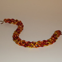 "7 inch ""Fire"" Roundmaille Chainmaille Bracelet"