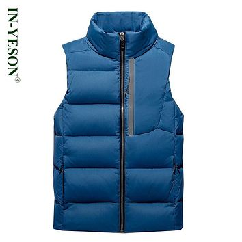 2017 New Arrival Brand Ultra Light Down Men Top Quality Stand Collar Zipper White Duck Down Vest Winter Sleeveless Jacket
