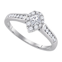 Diamond Fashion Bridal Ring in 14k White Gold 0.5 ctw