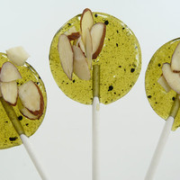 Matcha Green Tea with Toasted Almonds and Pear  -  Lollipop