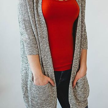 Drop Cardigan - Gray